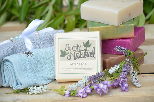 Lemon Mint All Natural Handmade Bar Soap
