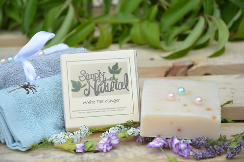 White Tea Ginger All Natural Handmade Bar Soap