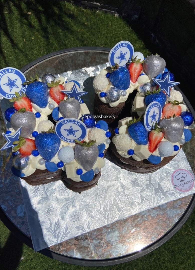 Small Cowboys Number Cake
