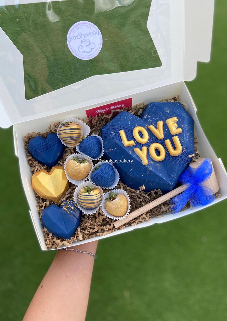 Blue and Gold Heart Box