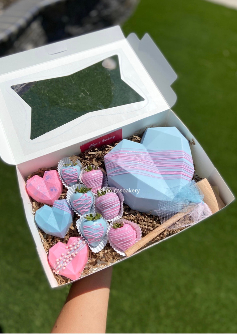 Baby Blue and Pink Heart Box