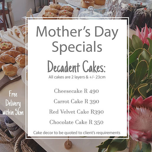 Monthers Day - Cake Specials - Website i