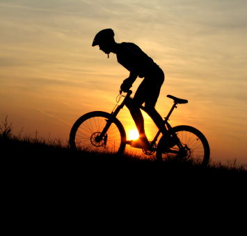 Go Biking in peaceful warm locations