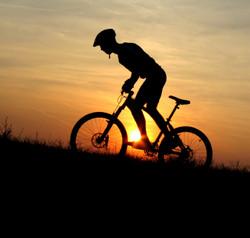 Go Biking in peaceful warm locations
