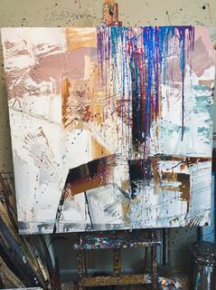 Abstraction - Pallet knife background pr