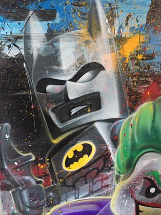 close up of sprayed image