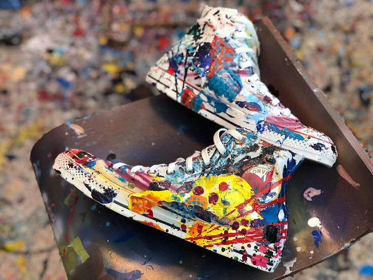 Abstract Converse shoes