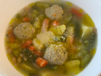 Revisited - Minestrone Genovese with Meatballs