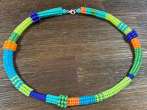 Colorful Herringbone Necklace