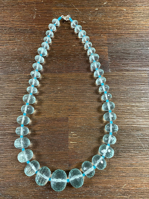 Faceted Glass Necklace