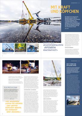 Allianz Zeitschrift - Reportage für Welti-Furrer Pneukran & Spezialtransporte AG