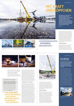 Allianz magazine - report for Welti-Furrer Pneukran & Spezialtransporte AG