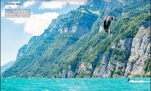 The Kiteboarder - Ramona Studer, Walensee