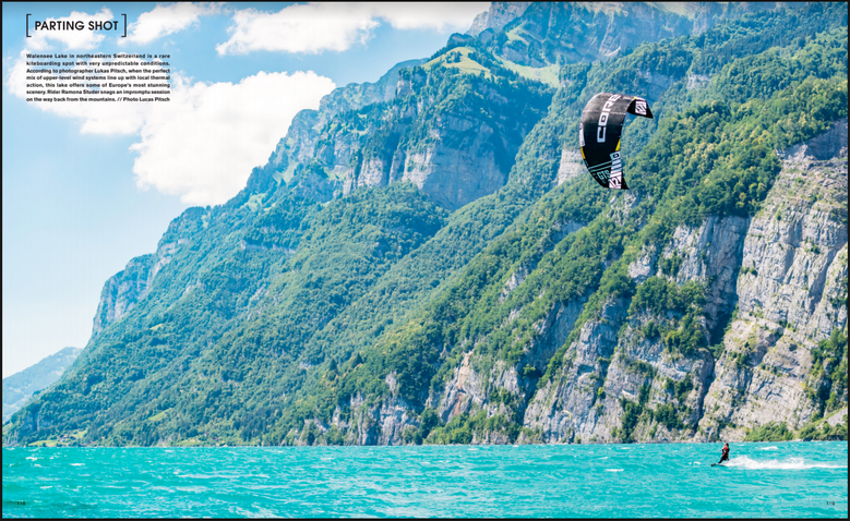 The Kiteboarder - Ramona Studer, Walensee
