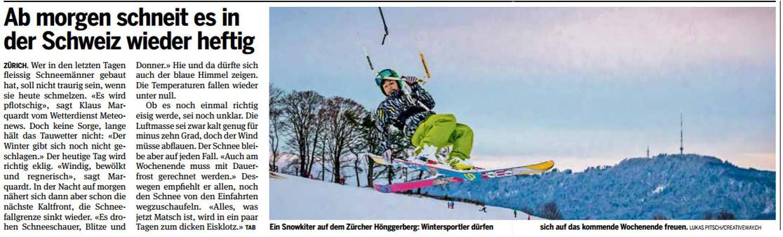 20min - Snowkite Hönggerberg