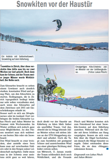 Hönggerzeitung - Snowkiten Hönggerberg