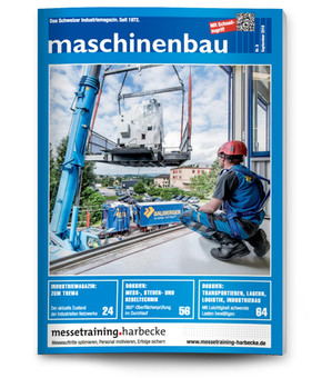 Mechanical engineering magazine, cover for Bauberger AG