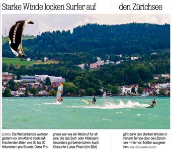 20min - Kitesurf Lake Zurich (Lukas Pitsch)