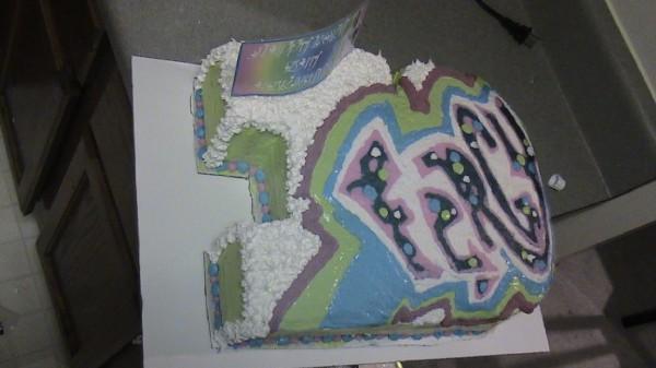 80's graffiti 30 Cake