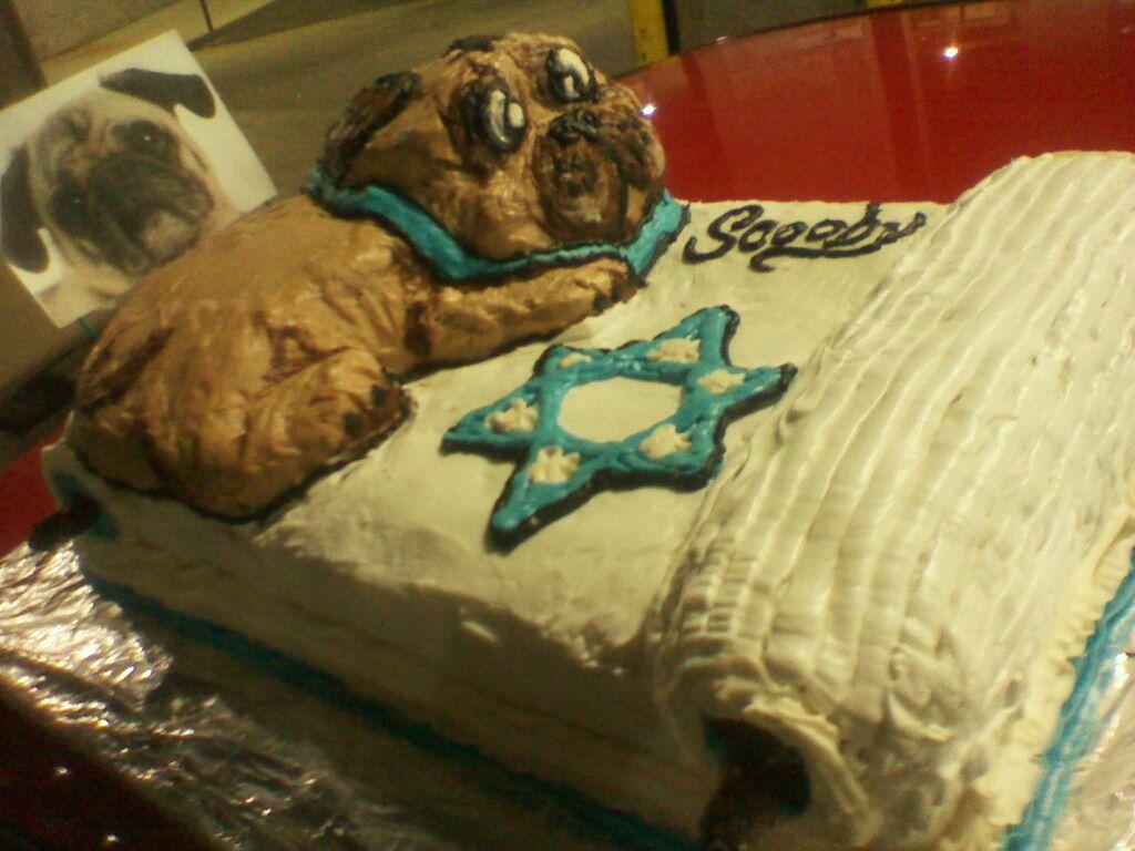 Pug Holy Torah Cake
