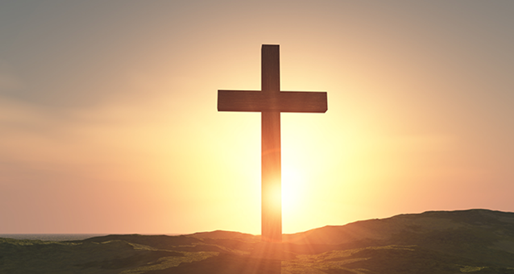 Cross on a mountain top
