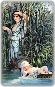 Miriam follows Moses down the Nile to see what would become of him.