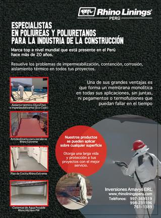 Rhino Linings Perú en la Revista Constructivo