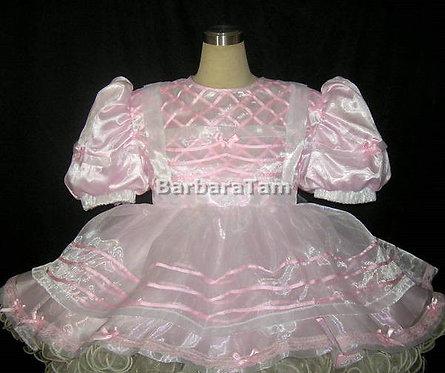 #C38 ADULT SISSY ORGANZA RUFFLES DRESS