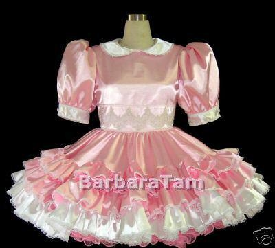 #B40 ADULT SISSY RUFFLES GIRL DRESS