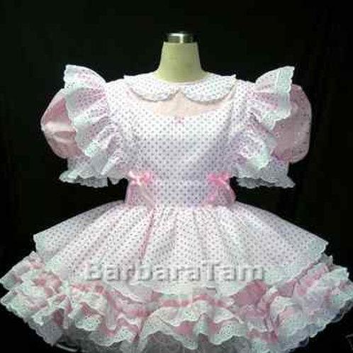 #C05 ADULT SISSY GIRL EYELET DRESS