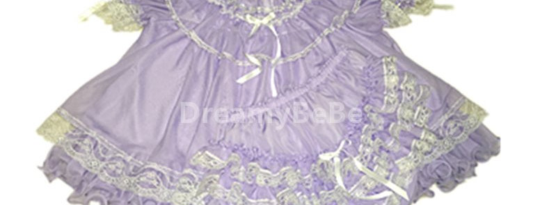 Adult Baby Flouncy Chiffon Dress Set