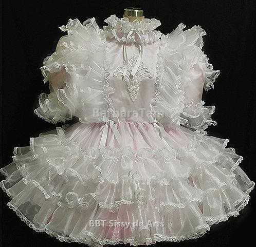 #C19 a ADULT SISSY RUFFLES ORGANZA DRESS
