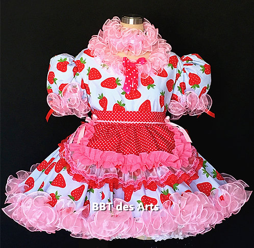 BBT ADULT SISSY STRAWBERRY MAID DRESS