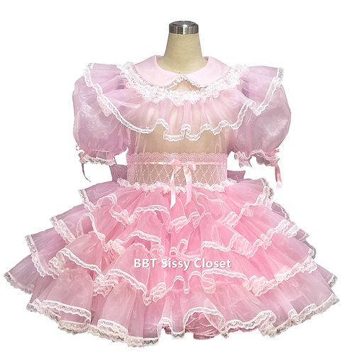 BBT Adult Sissy Bridal Organza Victorian Dress