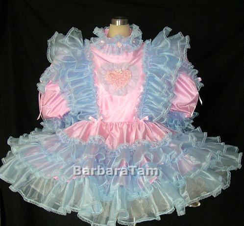 #B42 ADULT SISSY BABY RUFFLES DRESS