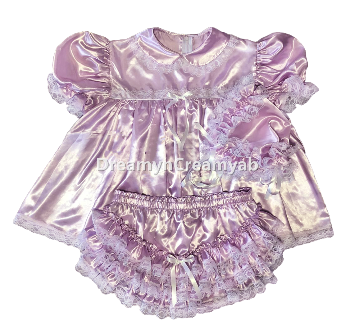 Lavender Satin Dress