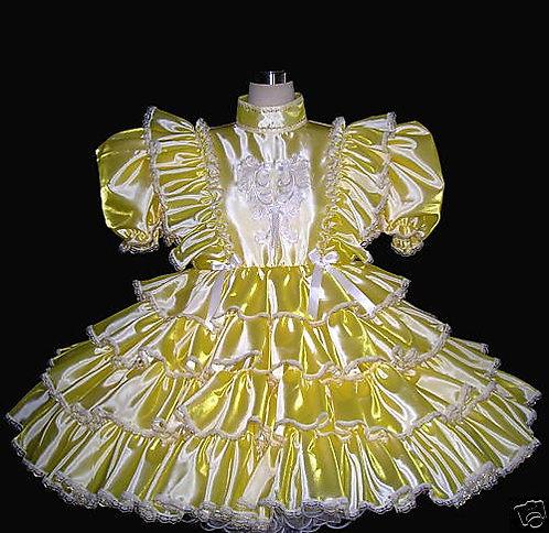 #C17 ADULT SISSY TAFFETA RUFFLES GIRL DRESS