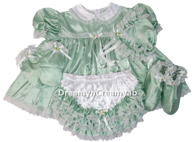Baby Dots Satin Dress Set