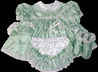 Baby Dots Satin Dress Set