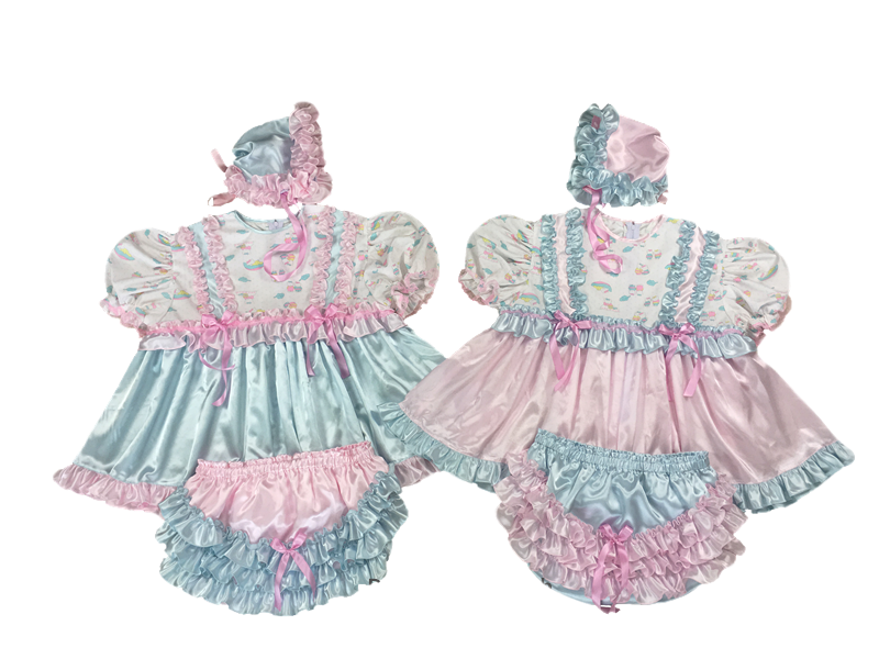 Ruffles Satin Dresses