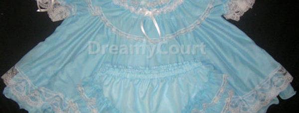 Adult Sissy Ciffon Flouncy Baby Dress Set