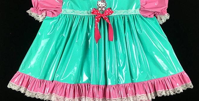 ADULT SISSY HELLO KITTY BABY PVC DRESS