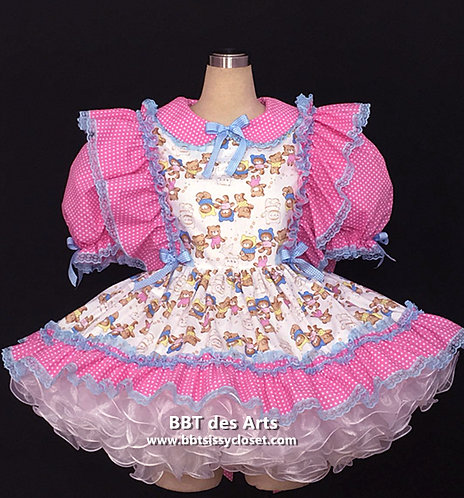 BBT Adult Sissy Baby Bear Party Dress 06