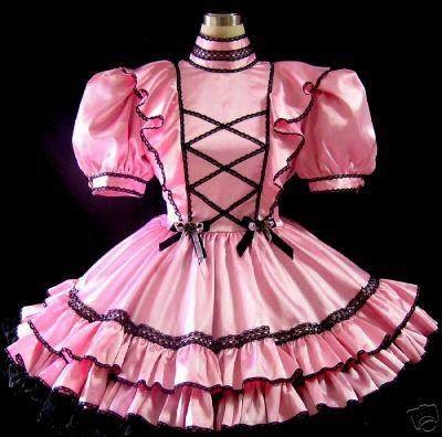 #A06 ADULT SISSY FLOUNCY GOTHIC DRESS