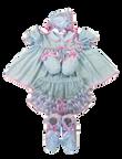 baby blue eyelet dress set