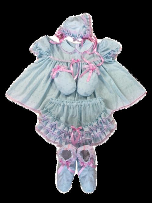 Adult Baby Baby Eyelet Full Dress Set