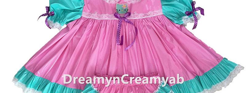 ADULT SISSY HELLO KITTY BABY PVC P DRESS