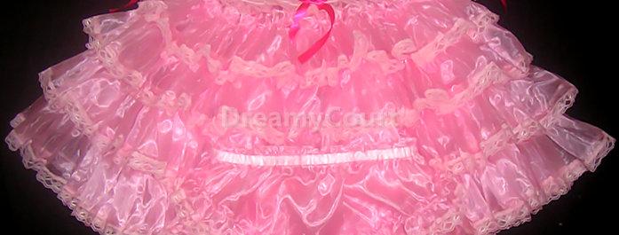 ADULT BABY RUFFLE ORGANZA DRESS SET