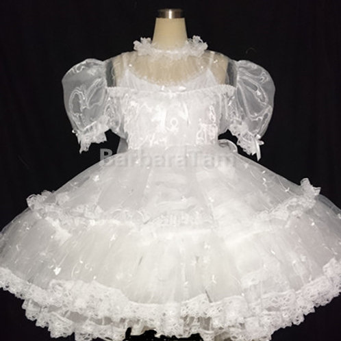 #B44ADULT SISSY  EMBROIDERY GIRL DRESS