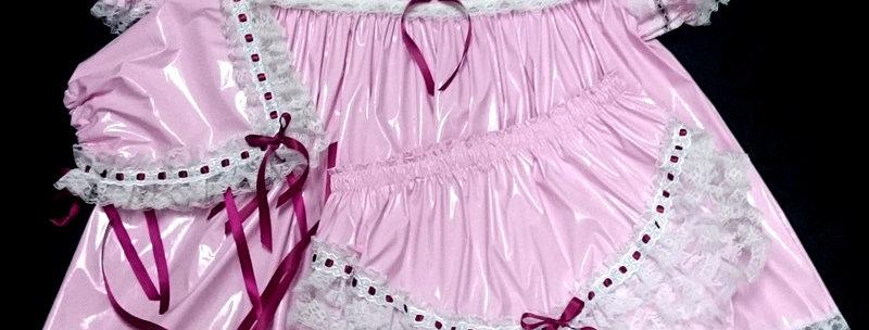 ADULT SISSY BABY PVC DRESS SET